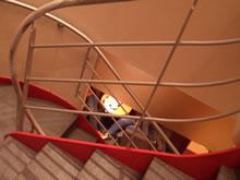 コーヒーショップの階段